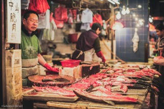 Fresh fish! Many wet market available fish still have a beating heart when purchased.
