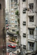 Some of the concrete high rises contain government issued tiny apartments.