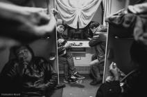 Sleeper train from Guangzhou to Nanning, China. February 2014.