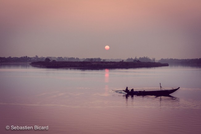 A moment of peace - sunrise in Hoi An.