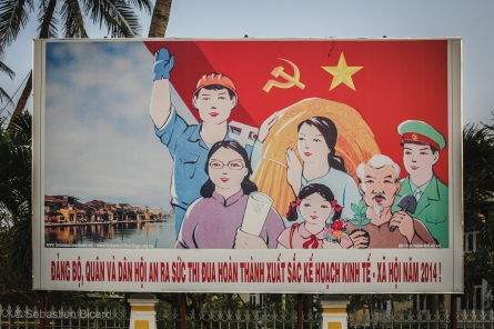 A government sponsored billboard in Hoi An. Vietnam, February 2014.