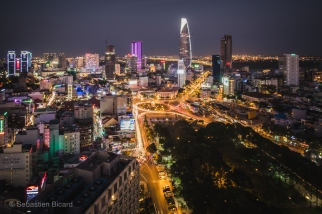 View from Saigon's chic Chill bar. Vietnam, March 2014.