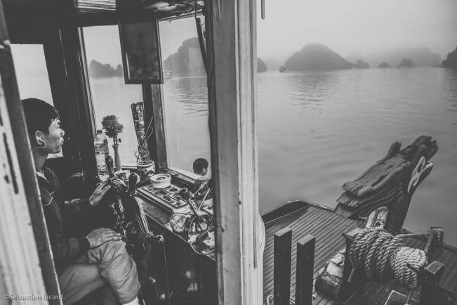 "Captain of our ship, ""Lemon Cruises"" in Halong Bay"