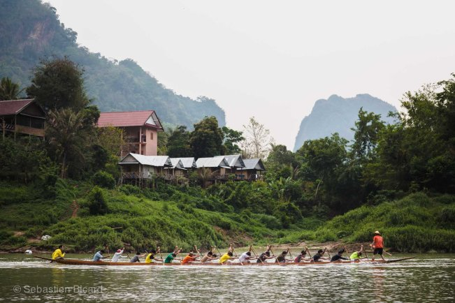 A glimpse of the annual Nong Khiaw riverboat races just before the New Year's celebrations.