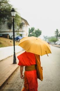 Colorful afternoon sun protection. Luang Prabang, Laos, April 2014.