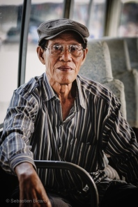 Portrait of a fellow bus-rider. Nong Khiaw, Laos, April 2014.