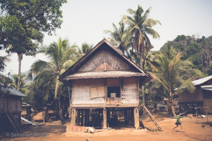 A traditional stilt house in a village off the Nam Ou river. Huay Sen, Laos, April 2014.