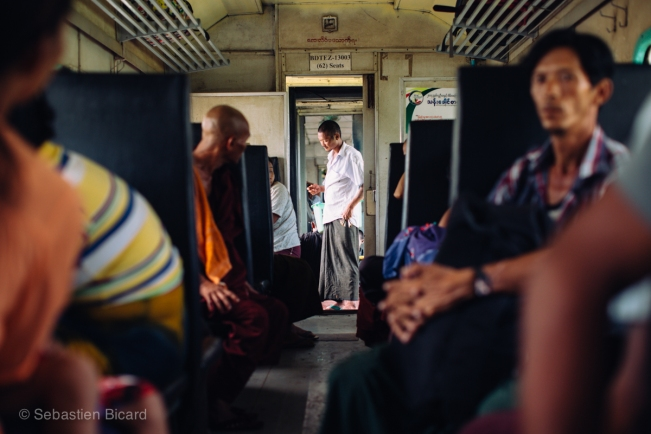 Crowded, hot and endlessly entertaining - the Ordinary Class on the overnight train to Bagan only cost about $3.