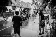 Water throwing during the Pii Mai New Year. Luang Prabang, Laos, April 2014.