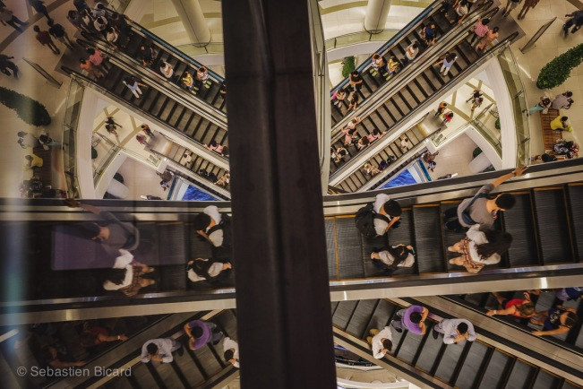 The malls in Bangkok take shopping to dizzying heights.