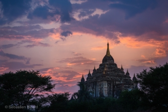 That Byin Nyu Temple at sunset in Bagan, Myanmar, May 2014.