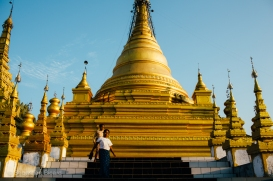 Sandamuni pagoda in central Mandalay, Myanmar, May 2014.