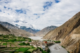The small village of Kagbeni is a popular outpost for trekkers and travelers on their way to Lo Manthang. Nepal, July 2014.