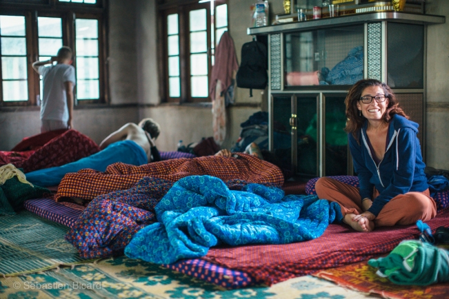 An early morning shot in our homestay accommodations during a trek in Myanmar.
